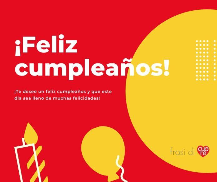 Buon compleanno in spagnolo - ¡Feliz cumpleaños!