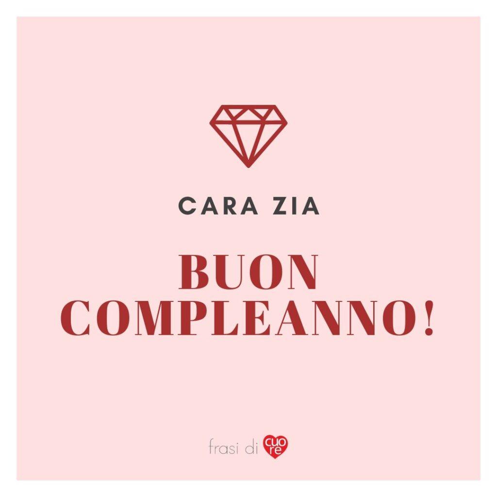 Buon compleanno zia rosa e rosso diamante