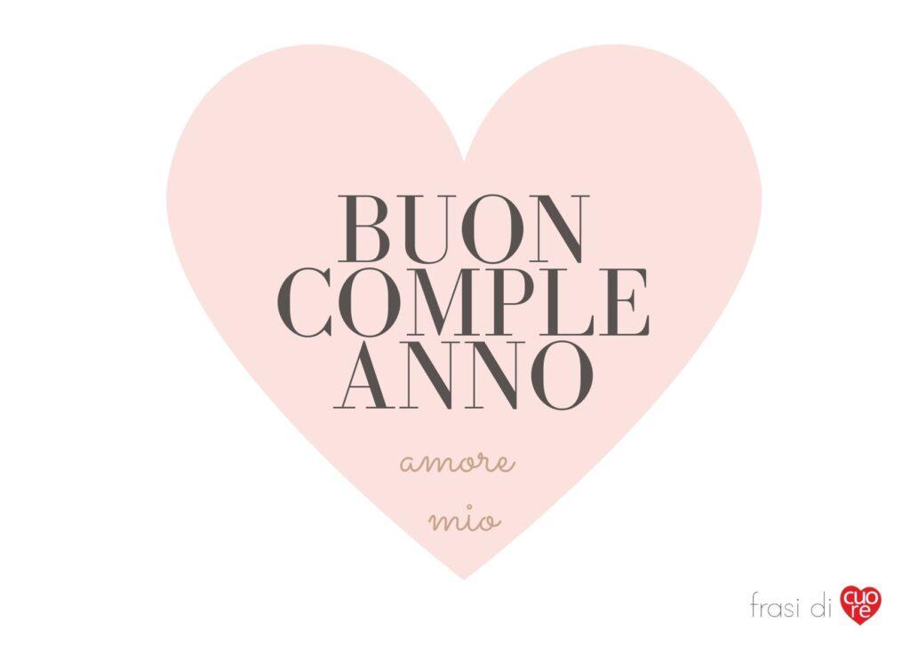 Buon compleanno amore mio rosa antico e cuore
