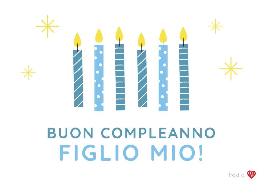 Buon compleanno figlio mio candele blu