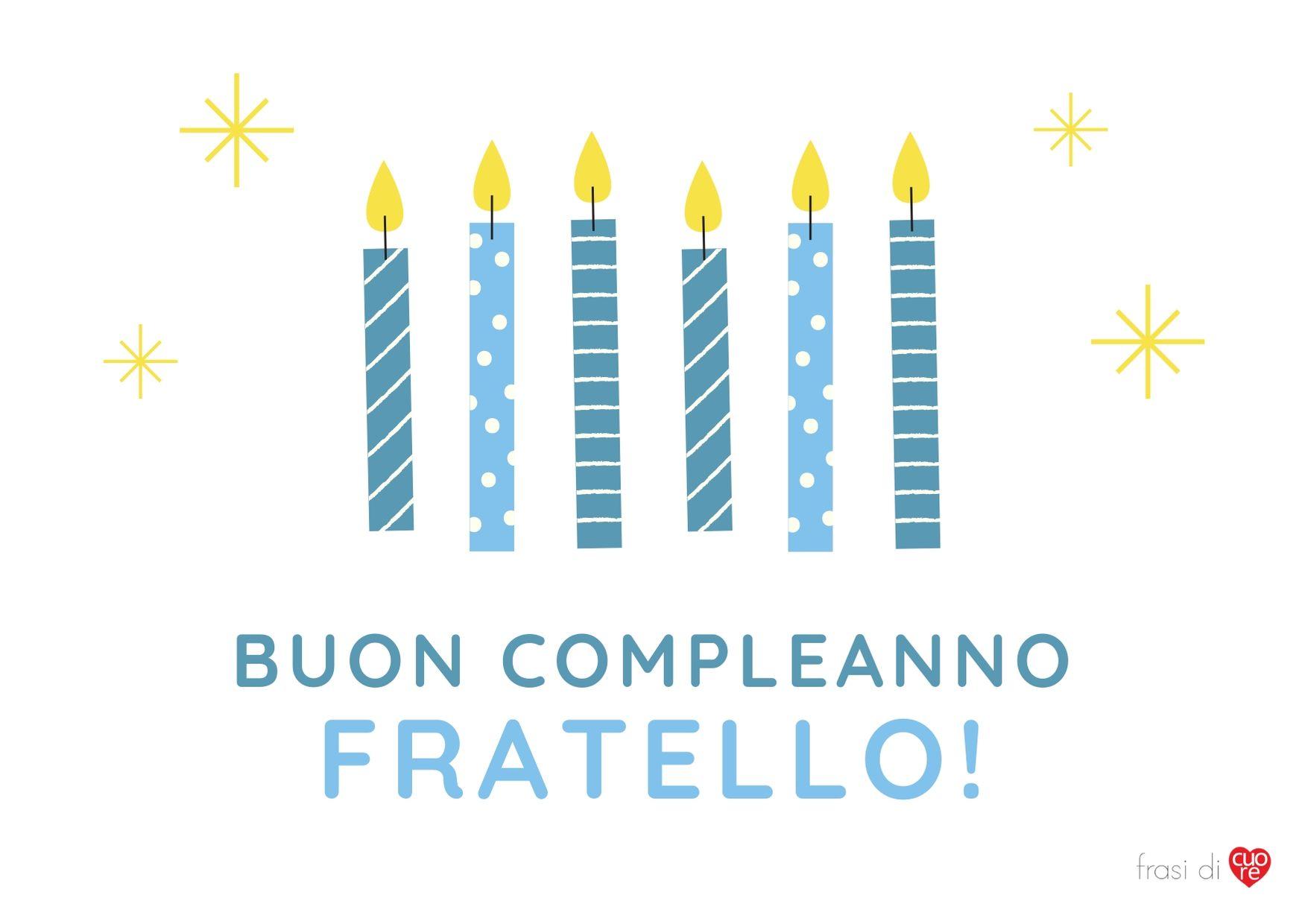 Buon compleanno fratello candele blu