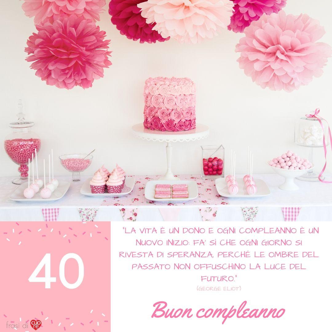 Amica Compie 40 Anni frasi auguri di buon compleanno 40 anni   frasi di cuore
