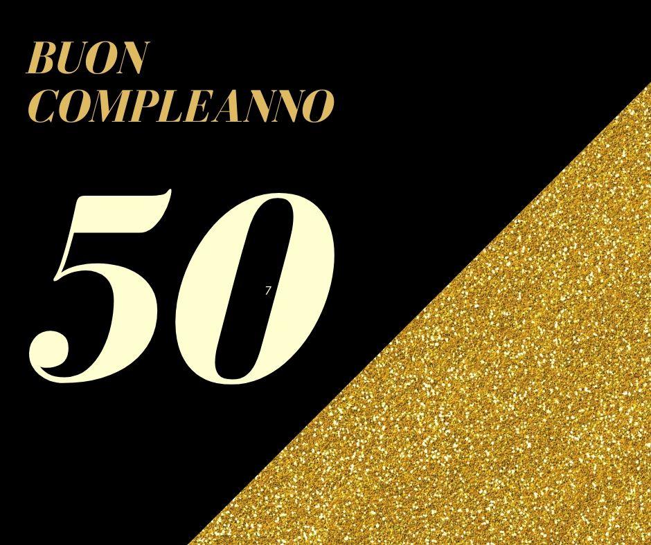 Buon compleanno 50 anni luccicante