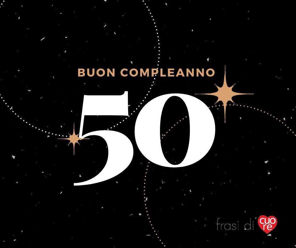 Buon compleanno 50 anni nero e bronzo