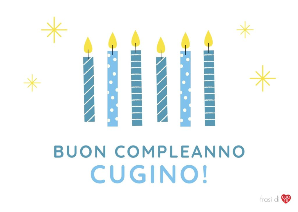 Buon compleanno cugino candele blu