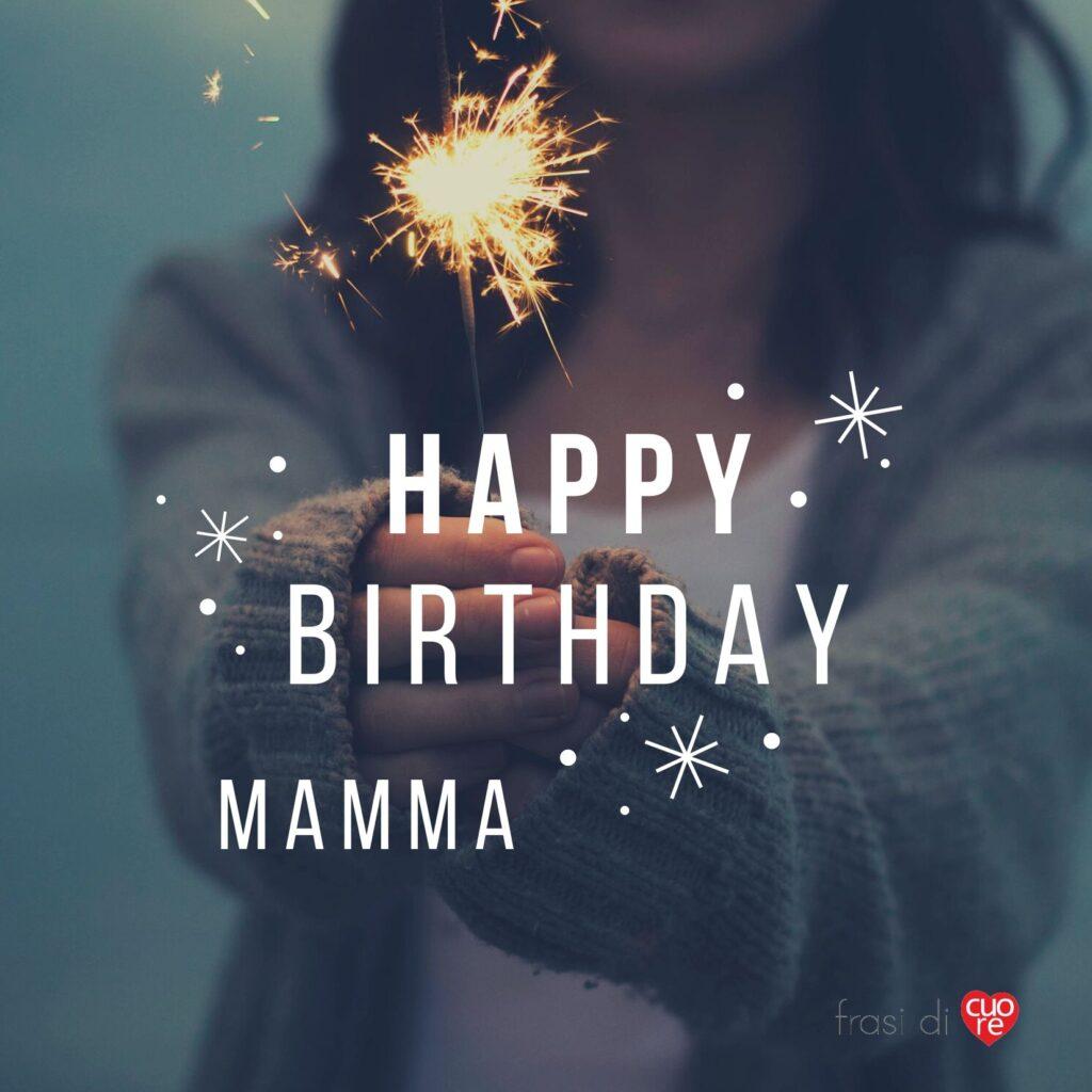 Buon Compleanno Mamma stella