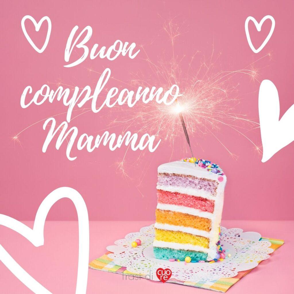 Buon compleanno mamma con torta