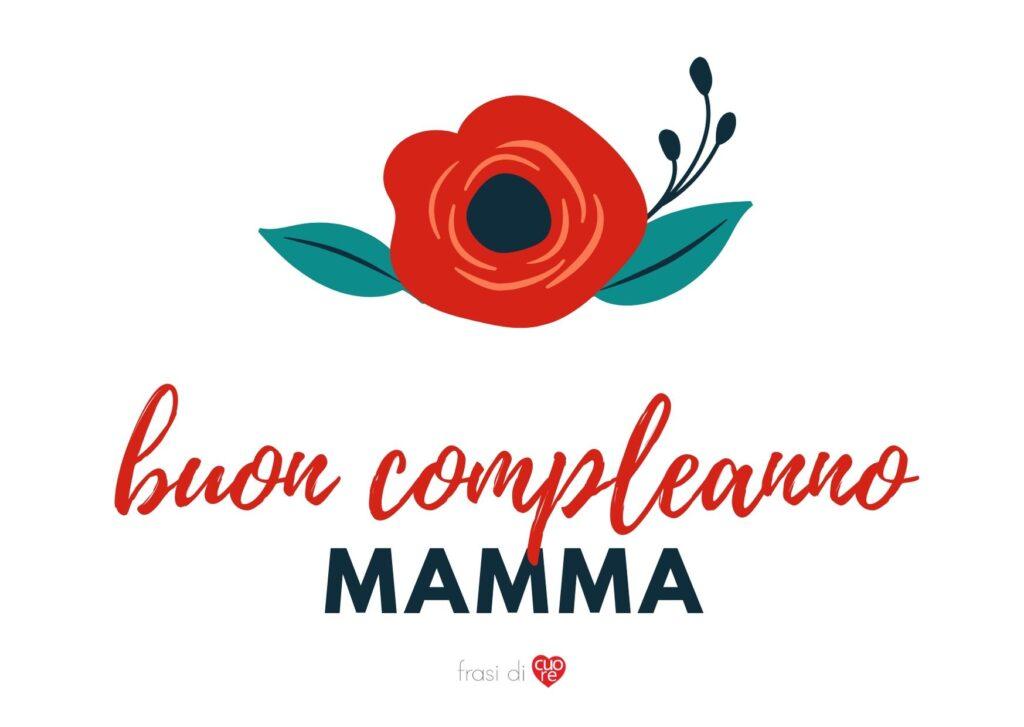 Buon compleanno mamma fiore