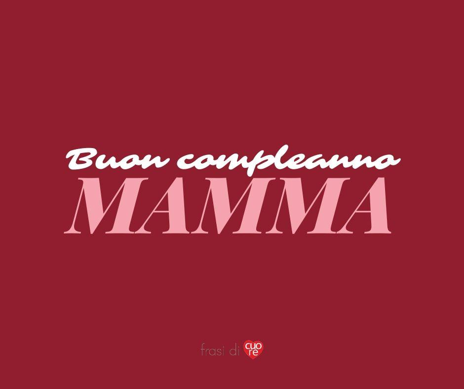Buon compleanno mamma rosso