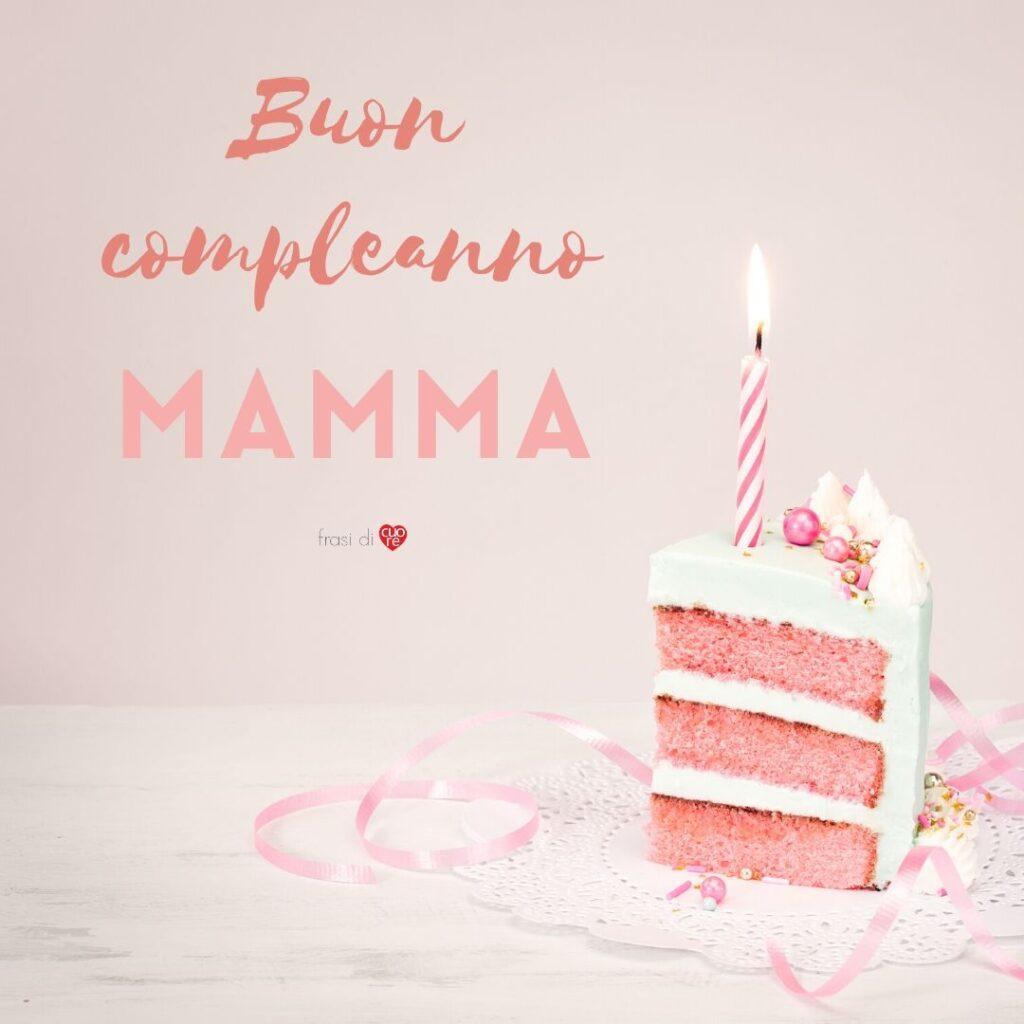 Buon compleanno mamma torta e candelina
