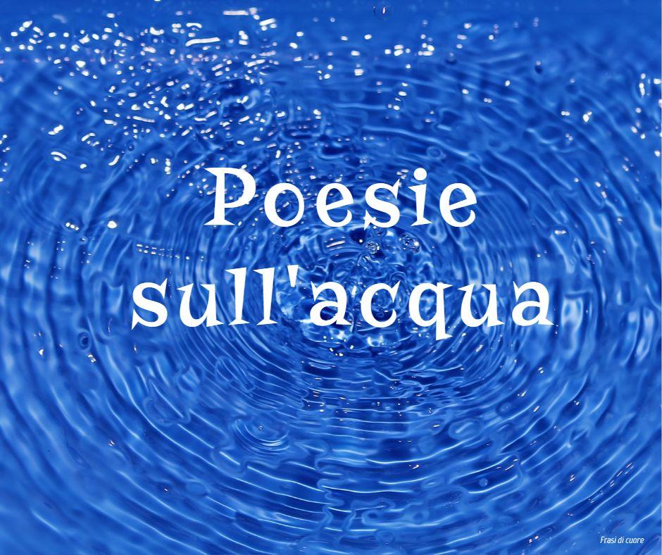 Poesie sull'acqua