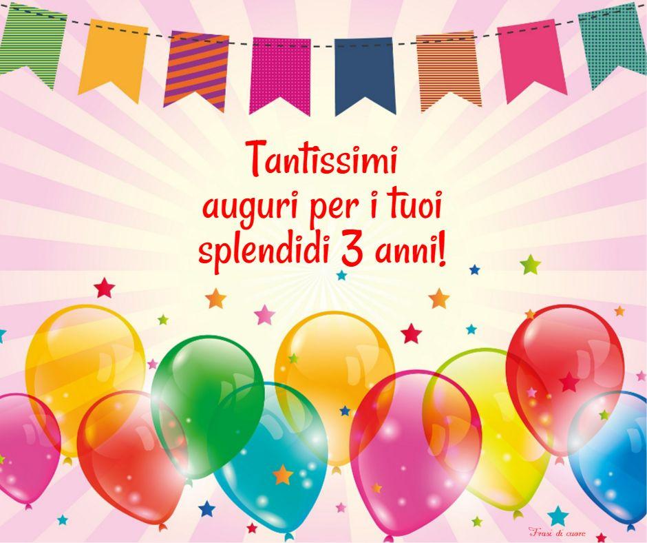 Buon compleanno 3 anni palloncini