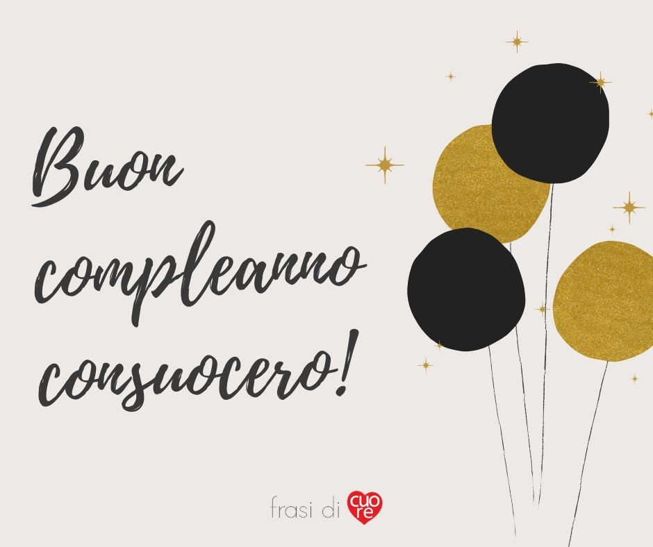 Buon Compleanno Consuocero