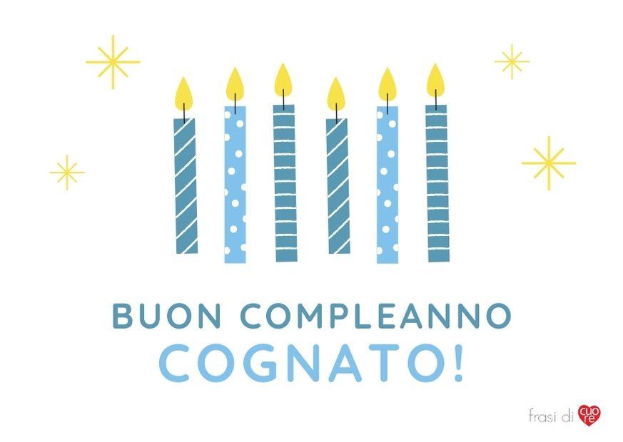 Buon compleanno cognato - Blu Candele