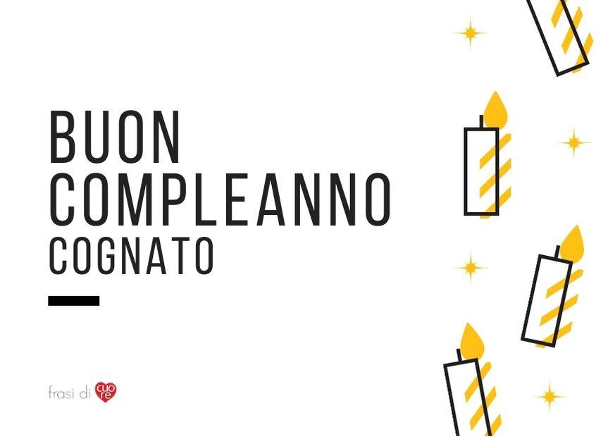 Buon compleanno cognato - argento  giallo candele biglietto
