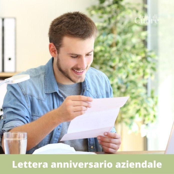 Lettera anniversario aziendale
